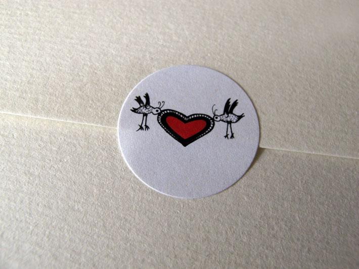 wedding invitation illustration heart by zazdesign