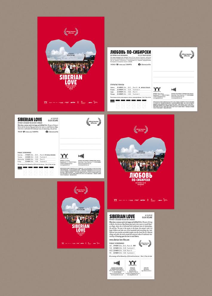 Siberian Love postcard by zazdesign