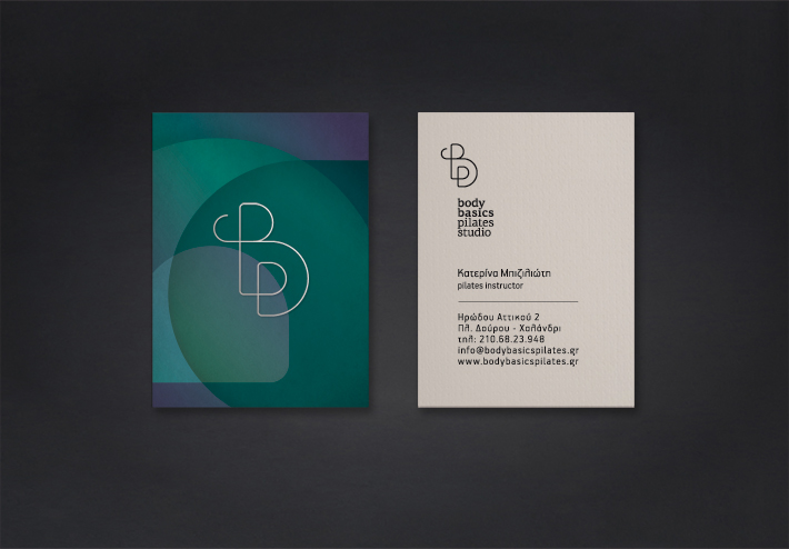 body basics pilates studio business cards