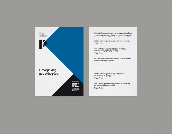 Politisches Kino evaluation card by zazdesign