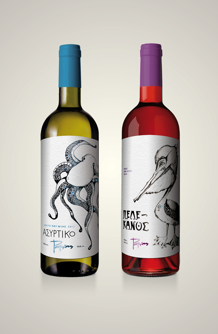 potsios greek wine (white + rose)