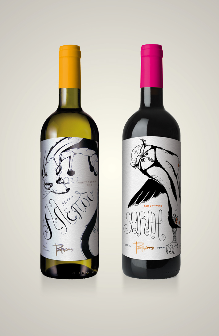 potsios greek wine (white + syrah)
